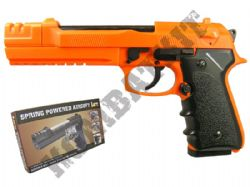 HA118EL Airsoft BB Gun Black and Orange